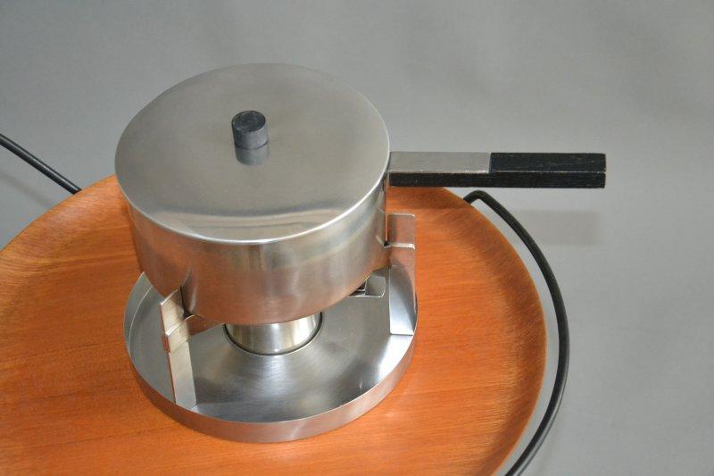 stelton fondue peter holmblad arne jacobsen edelstahl steel ebay. Black Bedroom Furniture Sets. Home Design Ideas