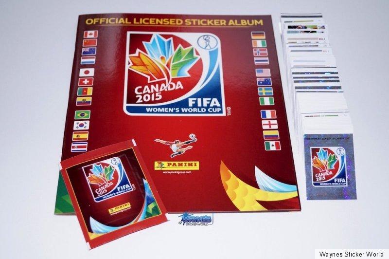 Komplettset Panini FIFA Frauen WM 2015 Album Tüte