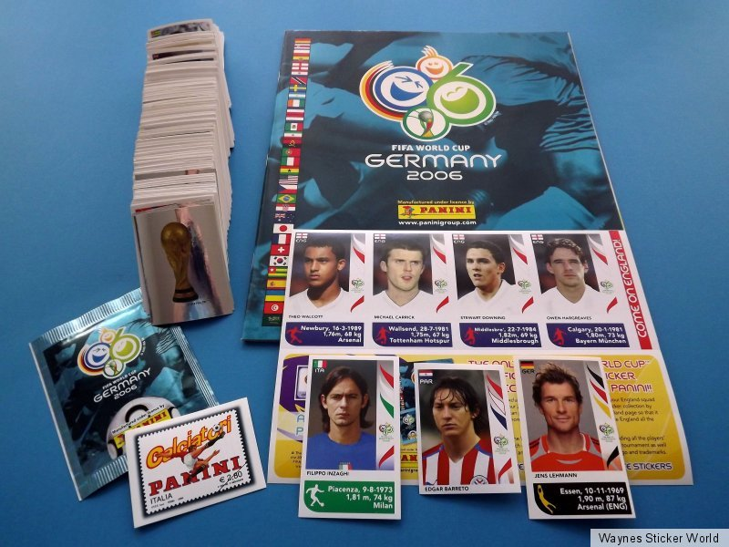 alle 596 Sticker Panini WM 2006 Deutschland WorldCup Leeralbum Komplett-Set