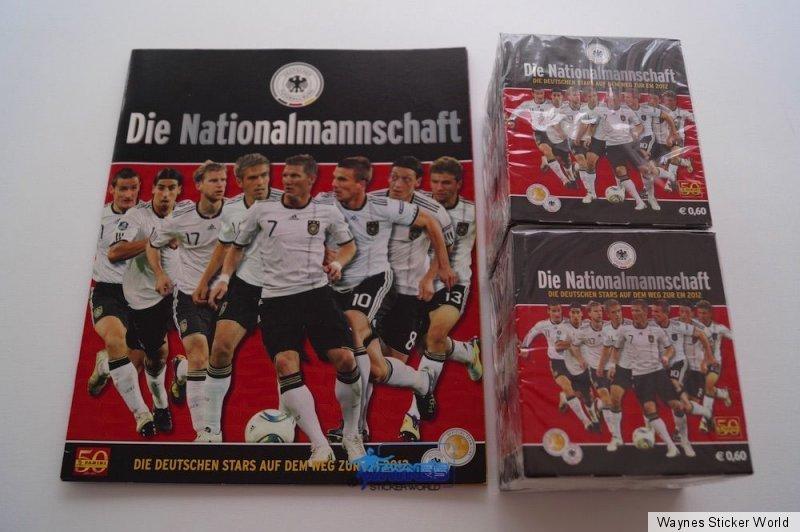 Tüte PANINI Euro 2012 Komplettset Nationalmannschaft Album