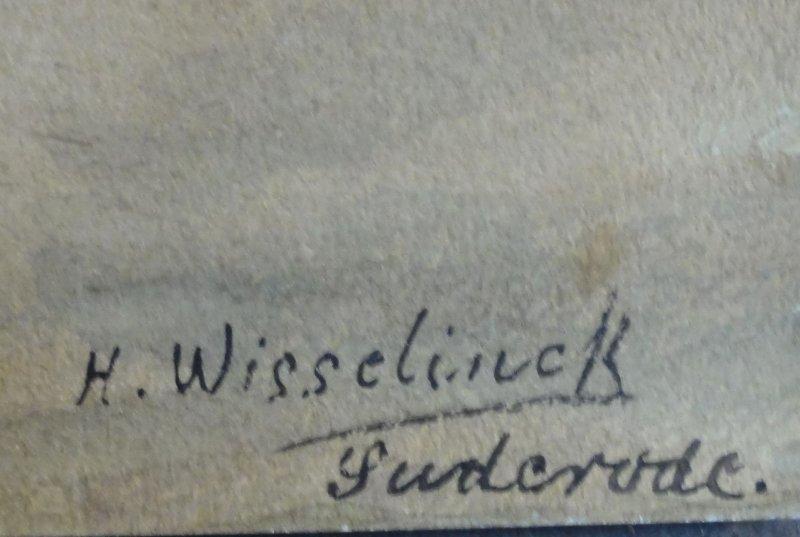 h wisselinck kleines aquarell um 1900 alte b 196 uerliche tracht in suderode harz ebay