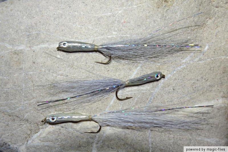 3 St Epoxy TROUT-MINNOW Streamer # 8 Brutfisch Bach-Regenbogen-Forelle Rapfen