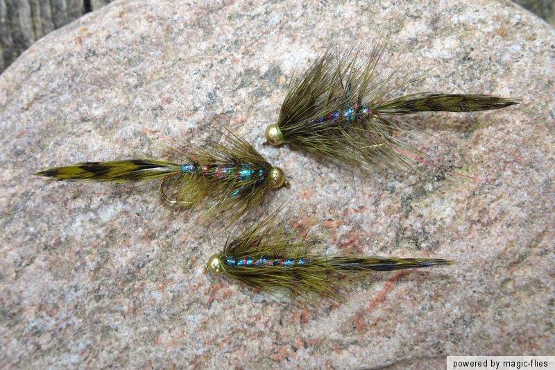 Goldkopf TROUT-BUSTER Streamer # 8 Forellen-Killer-See-Teich-Fluß Put/&Take 3 St