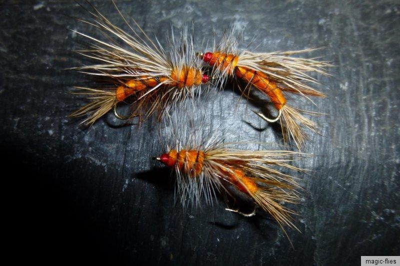 4 st stimulator orange fliege 12 bach regenbogen forelle. Black Bedroom Furniture Sets. Home Design Ideas