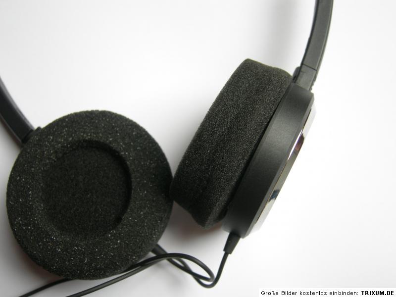 2 Ohrpolster Kunstleder z.B für  Sennheiser CC 550 CC 550 IP Headset