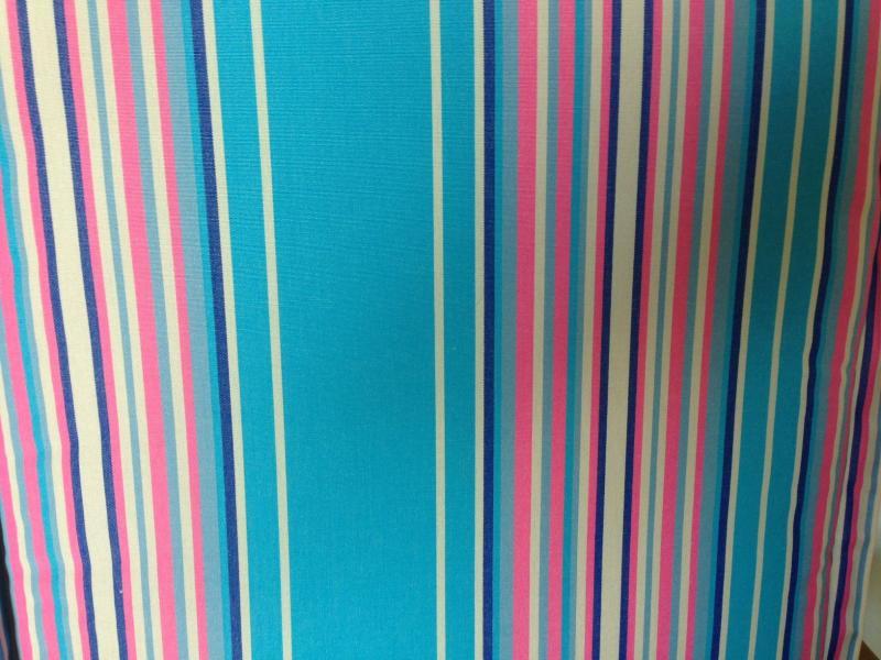 auflagen kissen mit rei verschluss multistreifen pink blau klappstuhl dekokissen ebay. Black Bedroom Furniture Sets. Home Design Ideas