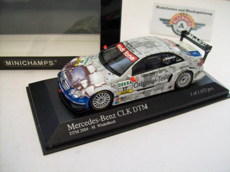 Minichamps 1//43 Mercedes Benz CLK DTM 2004 #17 M Winkelhock
