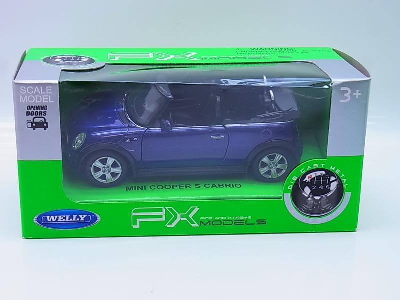 LOT 54661 Welly Mini Cooper S Cabrio blau Modellauto 1:40 NEU in OVP