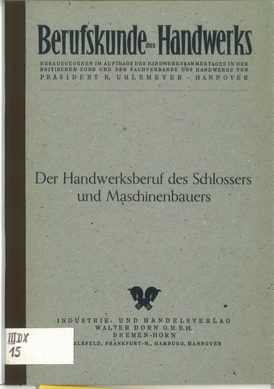 Zunftbild Schlosser auf Antikpapier im A4-Format G4917