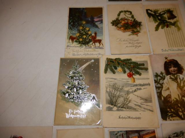 25 alte gl ckwunsch karten zu weihnachten um 1910 1945. Black Bedroom Furniture Sets. Home Design Ideas