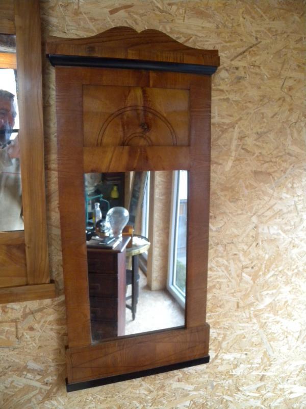 Details Zu Ausgefallener Biedermeier Spiegel Rahmen In Esche Braunschweig Um 1830 Faden