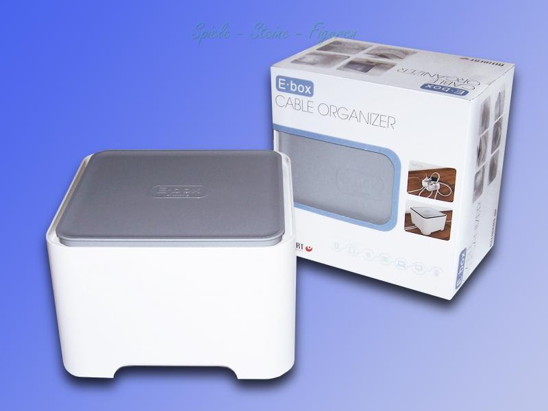 allibert e box kabel box cable organizer verstauen von steckdosenleiste kabel ebay. Black Bedroom Furniture Sets. Home Design Ideas