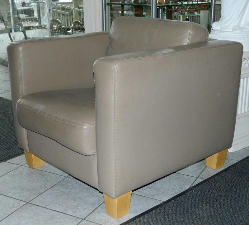 ledersessel sessel grau bauhaus stil kubus ebay. Black Bedroom Furniture Sets. Home Design Ideas