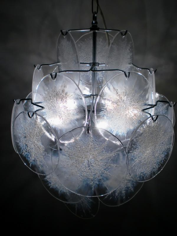 70s mazzega vistosi lamp murano leuchte glass disc. Black Bedroom Furniture Sets. Home Design Ideas