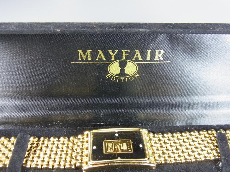 armbanduhr mayfair edition herren damen mit kleinem goldbarren ebay. Black Bedroom Furniture Sets. Home Design Ideas