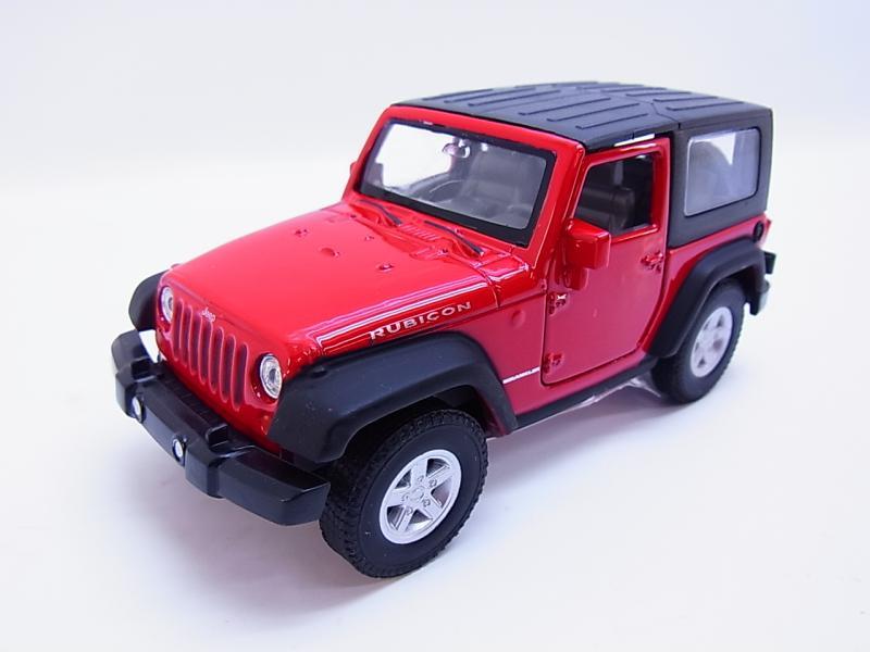 NEU Modellauto Jeep Wrangler Rubicon ca 11,5cm rot//offen Neuware von WELLY