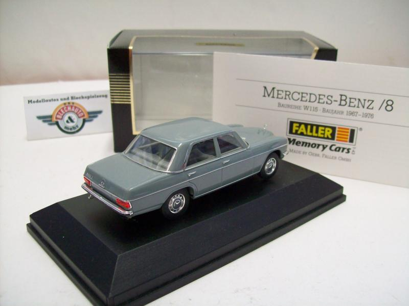 Mercedes benz 8 strichacht w115 grau 1967 faller for Mercedes benz made in germany