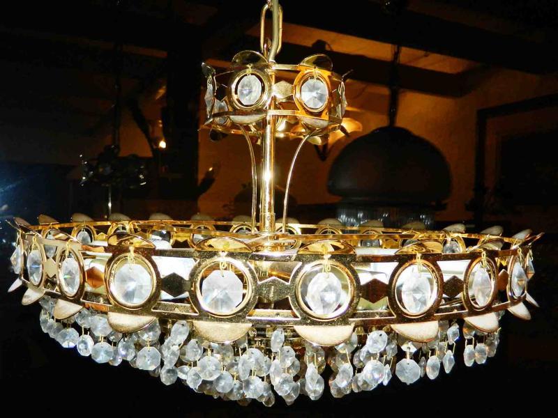Kronleuchter Kristall Anhänger ~ Kronleuchter no kristallanhänger glas goldfarbig messing