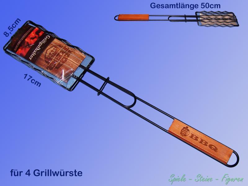 Détails sur BBQ Pince à Gril, Steak Turner, Steakhalter, Grille Panier, Saucisses Support
