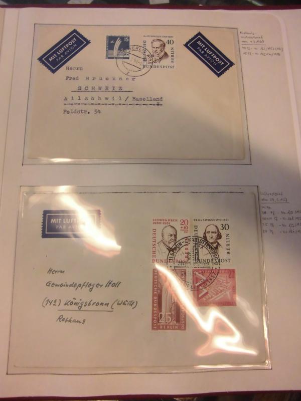 Briefe Mit Luftpost : Sammlung berlin ca belege blätter fdc etb briefe
